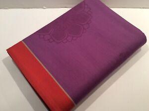 """Le Jacquard Francais NOMADE Purple 100% Cotton TABLECLOTH 68x98"""""""