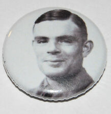 Alan Turing Button Badge 25mm / 1 inch Computing Enigma Gay Pride