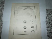 "1835 BRADFORD MAP ""ASTRONOMICAL ILLUSTRATIONS"" INTERESTING OLD MAP"