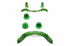 Crystal Green Parts Xbox 360 Controller LB RB Bumper LT RT Trigger Buttons Dpad
