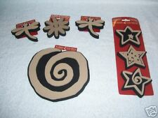 LOT OF 7 RUBBER STAMPEDE DECORATIVE STAMPS