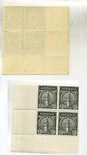 Australia 1935 Scott 151 1 Pence Stamp Block Of 4 Mnh