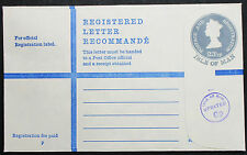 Isle of Man Registered Letter Postal Stationery 23 1/2p England R-Brief (L-1121