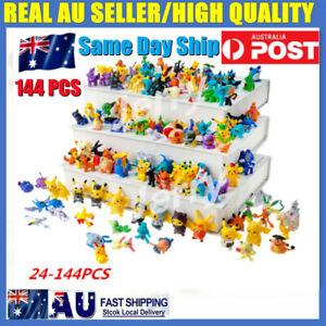 144pcs Kids Toys Pokemon Pikachu Monster Collectible Action Figures Doll Set Toy
