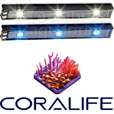 White and Blue BioCube Replacement LED Light Accent/Lunar Bars Coralife 1 Pair