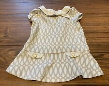 Janie And Jack Girls 3-6 Month Classic Dress Gray And White Vintage 1960s Style
