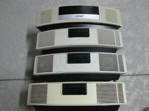 Lot of 4 Bose Wave Radio White For Parts of Repair Mixed Lots of Models