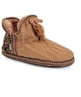 New Muk Luks Amira Women Slippers Shoes Lined Bootie Tan Camel Brown Small 5-6