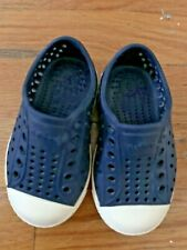 Native Navy / Cream Color Waterproof Toddler Kids Shoes C3