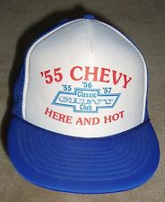 CHEVROLET '55 CHEVY HAT VINTAGE '55 CLASSIC CHEVY CLUB TRUCKERS CAP