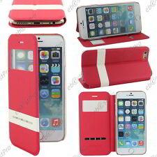 """Accessoire Housse Coque Etui S-View Flip Cover Rouge Apple iPhone 6 4,7"""""""