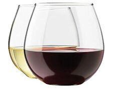 Royal Stemless Wine Glass Set, 4-Pack, 15 Ounce Wine Tumbler Set