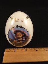 Mj Hummel Porcelain Egg - Umbrella Girl - by Danbury Mint 1993