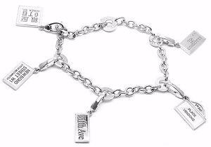 Rare! Authentic BVLGARI BULGARI 18k White Gold Charm With 5 Charms Bracelet