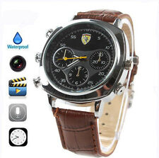 Spy Leather Wrist Watch 8GB Mini Hidden Camera Record Video DVR DV Camcorder