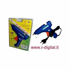 PISTOLA TERMOFUSIBILE COLLA A CALDO 60W 10mm TERMO COLLANTE TERMICO STICK