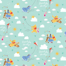 Disney Winnie the Pooh Kite Flying 100% Cotton fabric by the yard