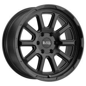 "Black Rhino Chase 20x8.5 5x120 +10mm Matte Black Wheel Rim 20"" Inch"