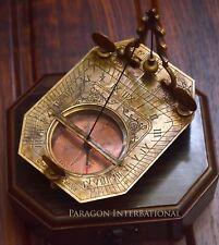 Maritime Pendulum Sundial Compass w Box Vintage Antique Nautical Christmas Gift