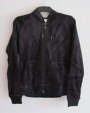 ELLESSE Womens Black Nora Velvet Full Zip Hooded Sweater Top Ladies XL BNWT