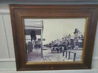 L.A. Huffman Print Diamond R Bull Train Main Street Miles City  MT 1880