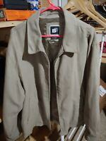 BACHRACH Men's Suede Leather Full Zip Jacket - size L