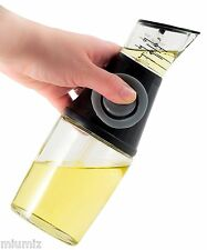 8.5 Oz Olive Oil Vinegar Glass Dispenser Pump Pourer Bottle with Measuring Cup