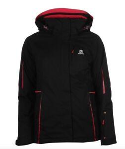 Salomon Women's Ski Jacket Black Pink all Sizes New with Label