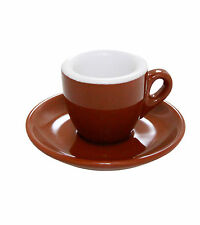 Espresso Tassen Palermo braun dickwandig Made in Italy - 6 Stück - Caffe Milano