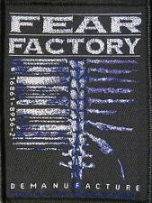 "FEAR FACTORY AUFNÄHER / PATCH # 10 ""DEMANUFACTURE"""
