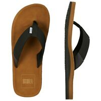 O'NEILL MENS FLIP FLOPS.NEW CHAD ARCH SUPPORT BLACK BROWN THONGS SANDALS 9S 4/70