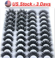 10/20 Pairs 3D False Eyelashes Bushy Cross Long Hair Eye Lashes Black Natural