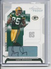 GREG JENNINGS 2006 PLAYOFF SIGNATURES PROOF PACKERS ROOKIE AUTO RC #D 78/150