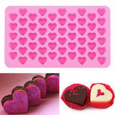 55 Mini-Herz Silikon Pralinen Form Backform Eiswürfel Schokolade Konfekt