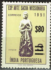 Portugise India Colonial Art Missionary Expo stamp 1951 MLH