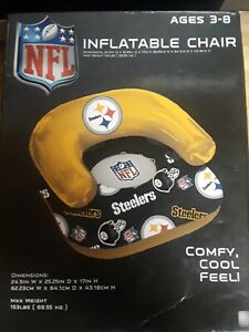 Pittsburgh Steeler's NFL Inflatable Chair Ages 3-8 153 lbs. Capacity