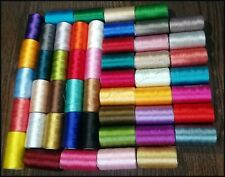 50 Spools Set Sewing Machine Silk Embroidery Threads BROTHER JANOME GUTERMAN UK