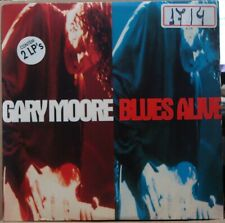 "GARY MOORE 1993 ""BLUES ALIVE"" SCARCE EDITION 2 LP Set Single Jacket BRAZIL"