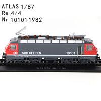 HO 1/87 Atlas Tram Re 4/4 Nr. 10101 1982 SBB CFF FFS Schaal Plastic Train Model