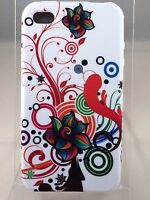 Brand New Apple 4G 4S Mobile Phone Case White Red Various Floral Swirl Cover