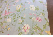 Laura Ashley Summer Palace Curtains Duck Egg 64 x 72 inch lined Excellent Cond