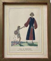 Art-Deco Voila de Printemps André Édouard Marty (1882-1974) 30 x 25 cm