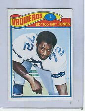 "1977 Topps Mexican # 314  ED  ""Too Tall""  JONES   Cowboys  Short Print  ngs"