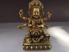 China Old Tibetan Buddhism tara buddha Earth Store Bodhisattva Copper statue