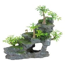 Trixie Rock Stairs with Plants Aquarium Ornament Fish Tank Cave Decoration, 19cm