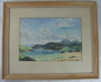 Mulroy Bay? Vintage 1961 Irish Watercolor George C. Nash Landscape Ireland