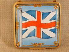 Halcyon Days Enamel Over Copper Hinged Box - The British Flag Le 134/200 Rare