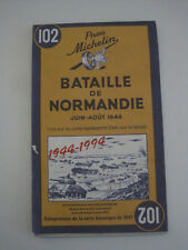 vintage - guide michelin , bataille de normandie 1944 - 1994