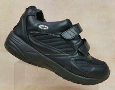 Apis Answer2 Black Leather Therapeutic XtraDepth 2-Strap Men 10W MISMATCH SOLES