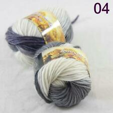 Sale Lot of 2 Skeins New Knitting Yarn Chunky Colorful Hand Wool Wrap Scarves 04